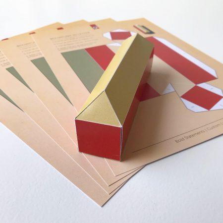 3D Papercut letter bouwplaat