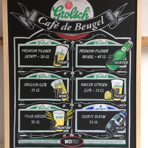 Beer menus for Grolsch