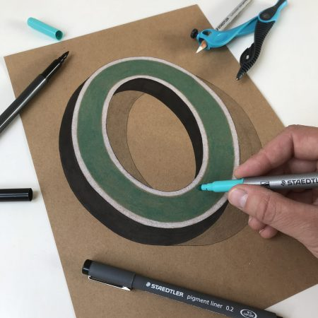 Vintage 3D Letter O by Bold Statements