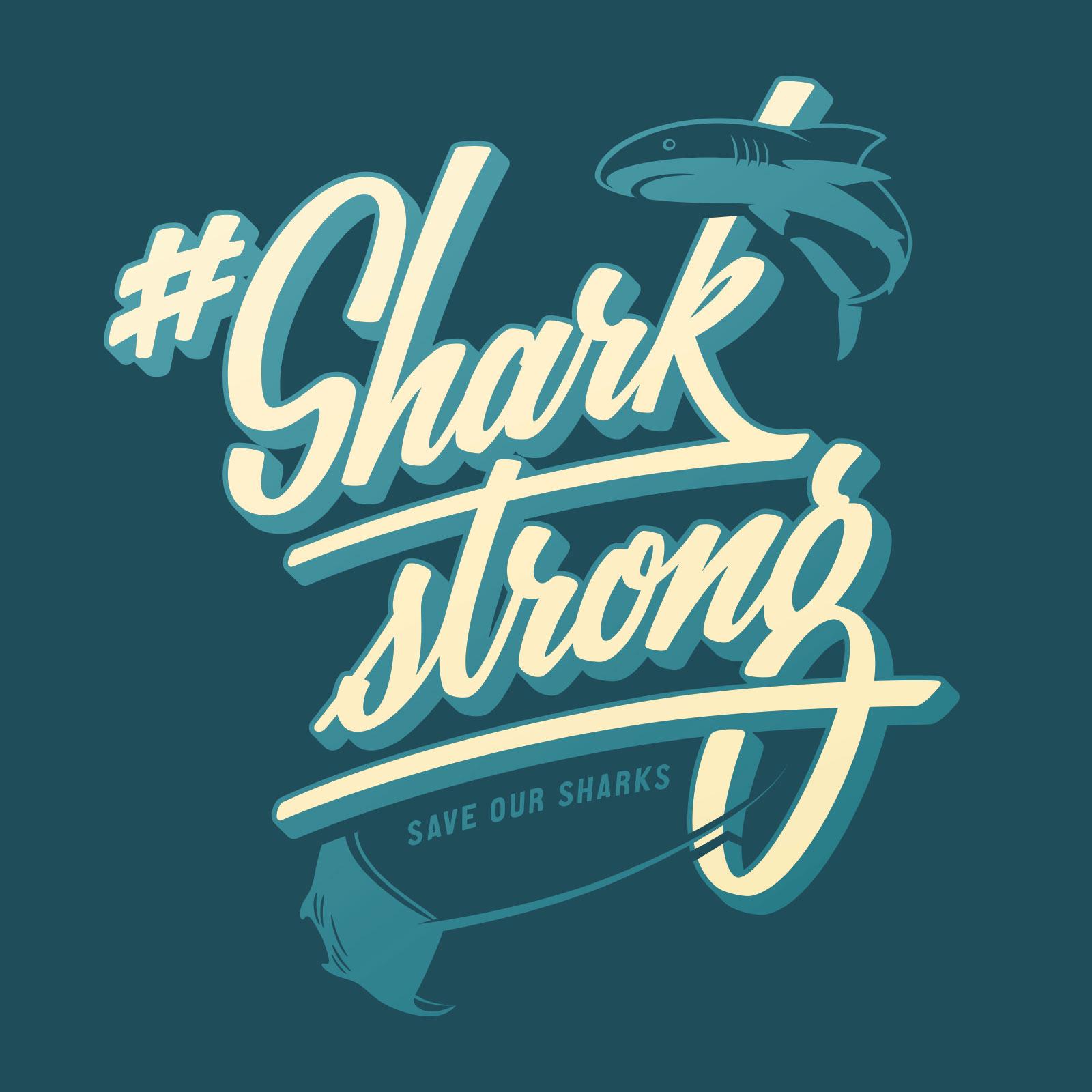 Beeldmerk voor de SharkStrong Campagne