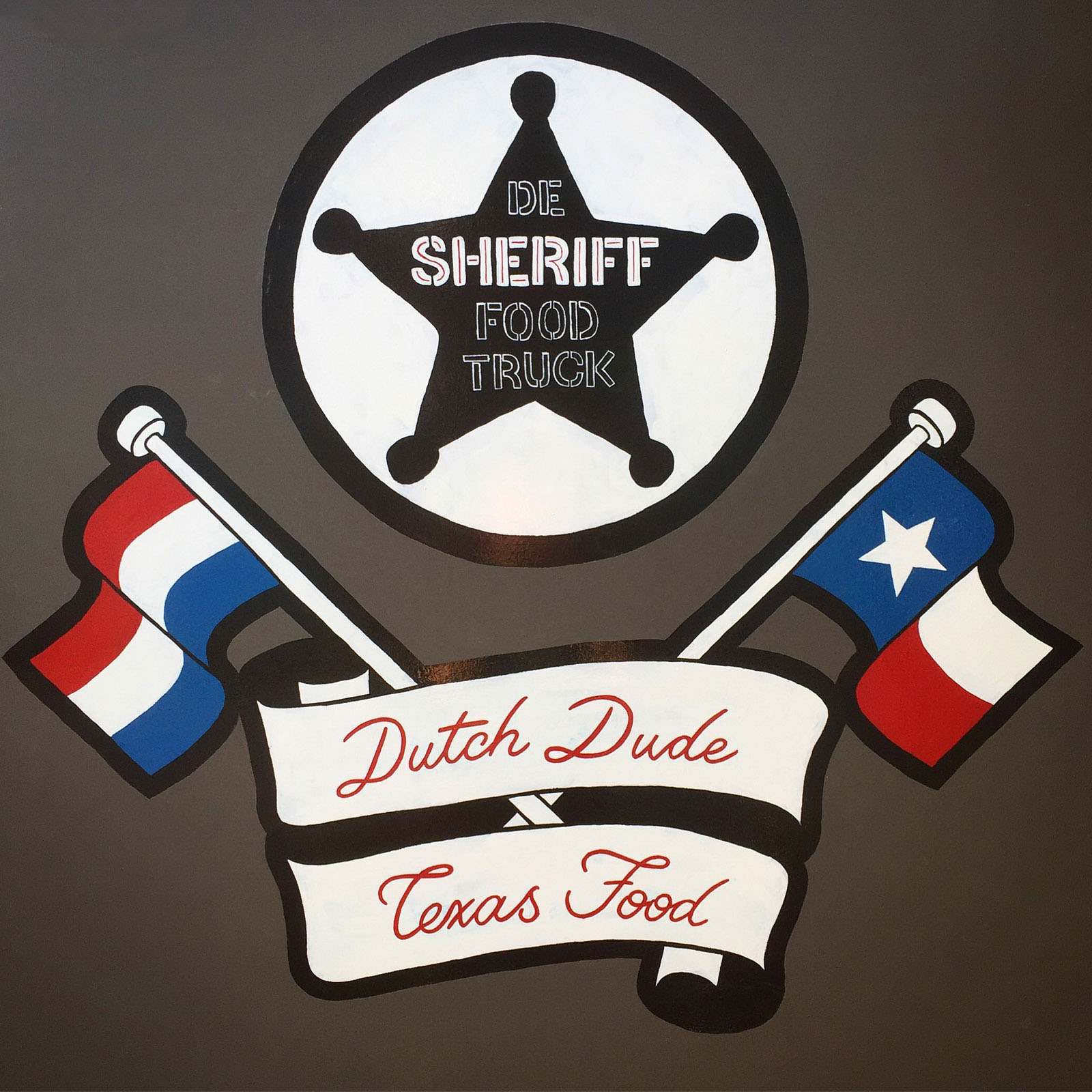 Sheriff Foodtruck Sign Painting