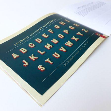 3D Letters booklet cheatsheet